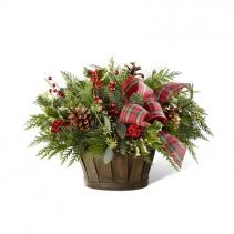 Home for Christmas Basket of Greens