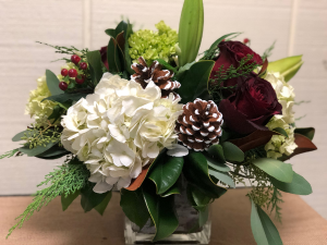 Home For Christmas Centerpiece in Fairfield, CT | Blossoms at Dailey's Flower Shop