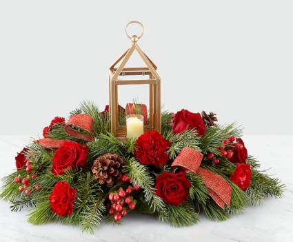 Home for Christmas Lantern Centerpiece #19-c3