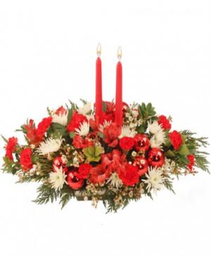 Home for Christmas Centerpiece in West Columbia, SC | SIGHTLER'S FLORIST