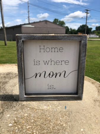 Home is where mom is decorative wall sign