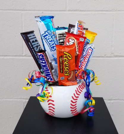 Home Run Ball Gift Basket