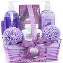 Home Spa Gift Baskets - Lavender & Jasmine - 8pc B Spa Kit