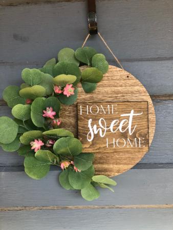 Home Sweet Home Wooden Door/Wall decor
