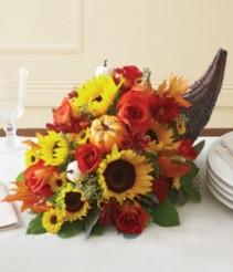 Homecoming Harvest Cornacopia GFFG Arrangement