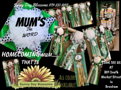 Homecoming Mum Corsages and Garters