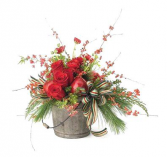 Homespun Holiday Flower Arrangement