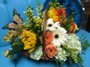 HOMETOWN FRESH Butterfly Basket in Prairie Grove, AR | The Petal Peddler Flower Shop