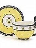 Honey Bee Cup and Saucer burton + Burton
