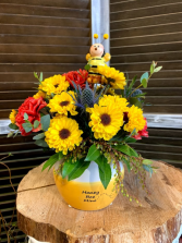 Honey Bee Mine Floral Arrangement