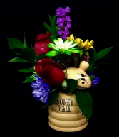 Honey Jar Floral Arrangement in Honey Jar