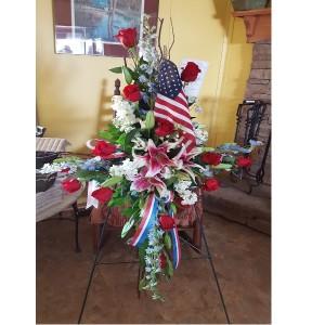 Honor A Veteran Fresh flower Cross