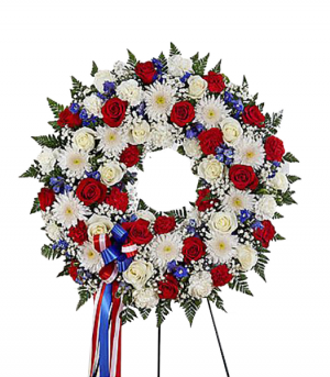 Honor And Duty Standing Wreath in Redlands, CA | REDLAND'S BOUQUET FLORIST & MORE