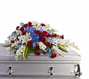 Honor and Service Casket Spray in Riverside, CA | RIVERSIDE BOUQUET FLORIST