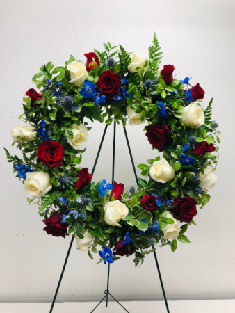 Honor of Service Easel Arrangement