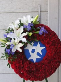 Honor One's Country Floral Wreath Tribute