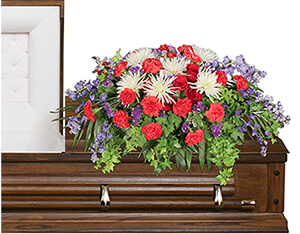 Honorable Dedication Casket Spray in Mount Pleasant, SC | BELVA'S FLOWER SHOP