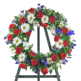 Honoring the Brave Sympathy Wreath