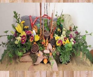 Honoring the Sportsman casket flowers in Paris, KY | Chasing Lilies Floral