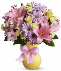 Spring Pastels Arrangement Vase Arrangement