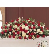 Hope and Honor Casket Spray Funeral Arrangement