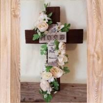 Hope Cross artificial flower