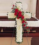 HOPE & HONOR CROSS Funeral Flowers
