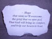 """Hope To Heal"" Sympathy Stone Sympathy"