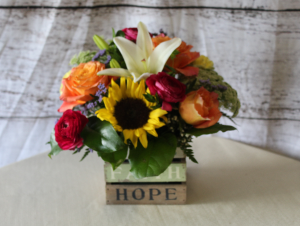 Hope wooden Box in Stevensville, MT | WildWind Floral Design Studio