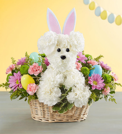 Hoppy Easter basket arrangement