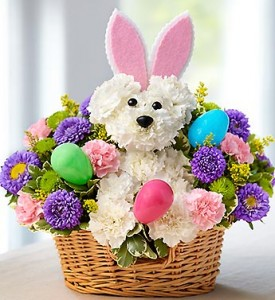 Hoppy Easter  Basket Arrangement  in Phoenix, NY | BLUSHING ROSE BOUTIQUE