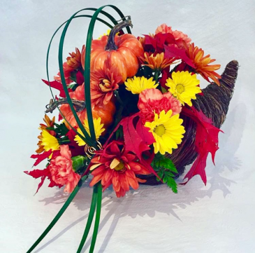 Horn of Plenty Cornucopia Arrangement