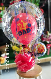 Hot Air Balloon Arrangement  Snack Basket