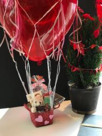Hot Air Balloon Sweet Surprise Gift Basket