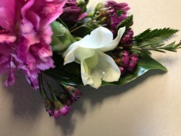Hot Carnation Prom Corsage/Wristlet