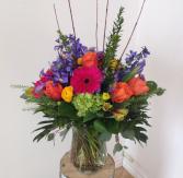 Hot Colours Vase Arrangement