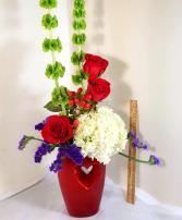Hot Date Valentine Open Heart Vase
