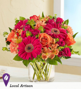 Hot Hot Hot Vase Arrangement in Schenectady, New York | Flowers by Jo-Ann
