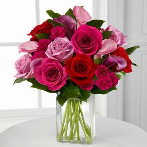 Hot Lady 2 Vase Arrangement in Northport, NY | Hengstenberg's Florist