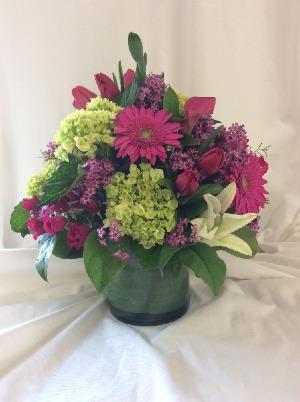 Hot Pink by Lovell's  in Medfield, MA | Lovell's Florist, Greenhouse & Nursery