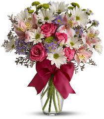 HOT PINK BOW VASE Bouquet