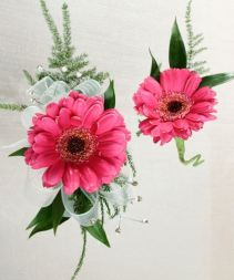 Hot Pink! Corsage & Bout