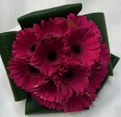 Hot Pink Gerbera Daisies Bridal Bouquet