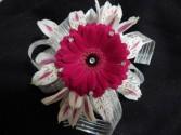 Hot Pink Gerbera Daisy with Alstromeria Corsage