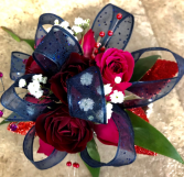 Hot Pink & Navy prom