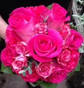 Hot Pink Nosegay Handheld Bouquet