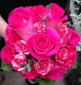 Hot Pink Nosegay Handheld Bouquet