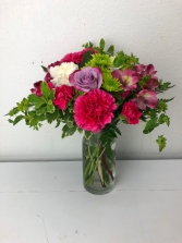 Hot Pink Happiness  Vase Arrangement