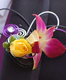 Hot Pink Orchid Boutonniere Prom Flowers