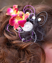 Hot Pink Orchid Prom Hair Clip Prom Accessories